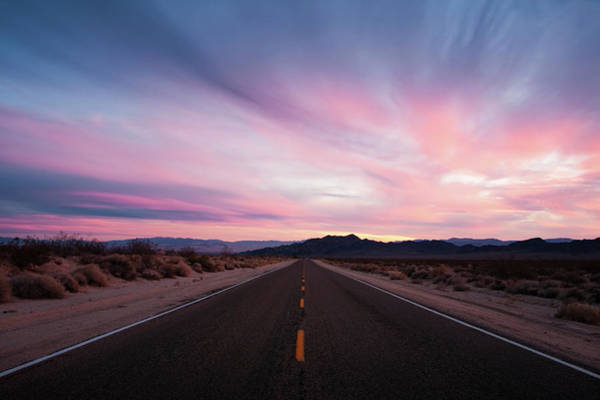 San Bernardino Photograph - Mojave Desert Sunset On Lonely, Wide by Eric Lowenbach