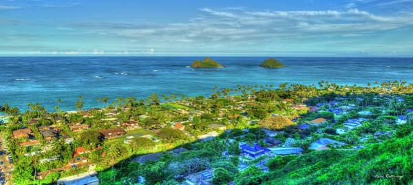 Wall Art - Photograph - Mokulua Islands Seascape Lanikai Beach Oahu Hawaii Landscape Art by Reid Callaway