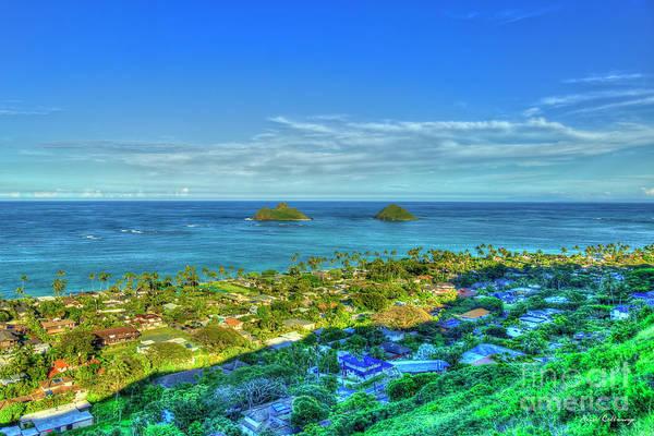 Wall Art - Photograph - Mokulua Islands Wonderland Lanikai Beach Oahu Hawaii Landscape Art by Reid Callaway