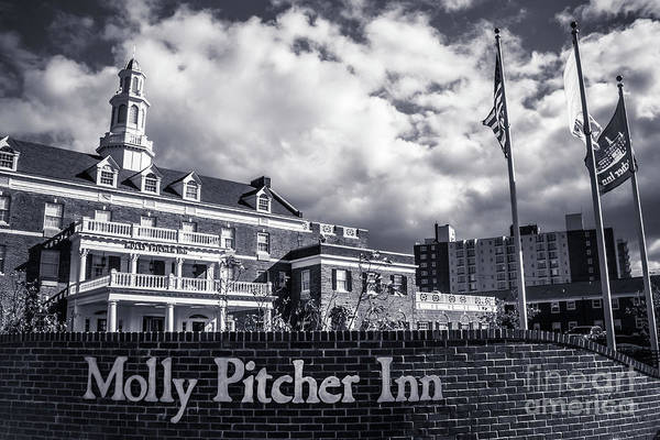 Wall Art - Photograph - Molly Pitcher Inn - Black And White by Colleen Kammerer