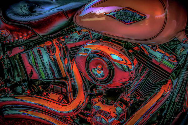Photograph - Molten Steel 1481 G_ms_2 by Steven Ward