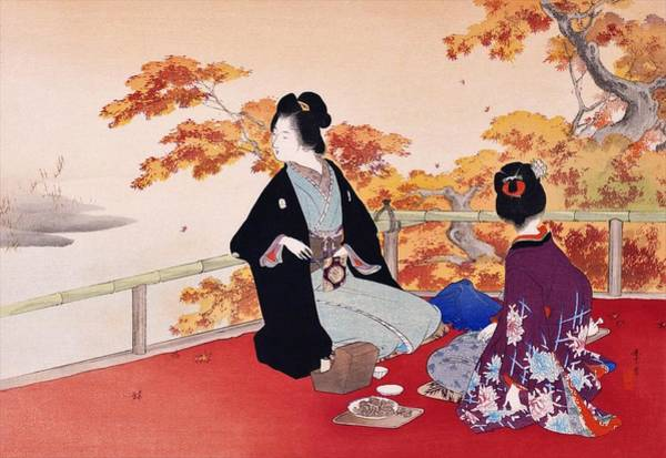 Wall Art - Painting - Momijigari - Top Quality Image Edition by Mizuno Toshikata