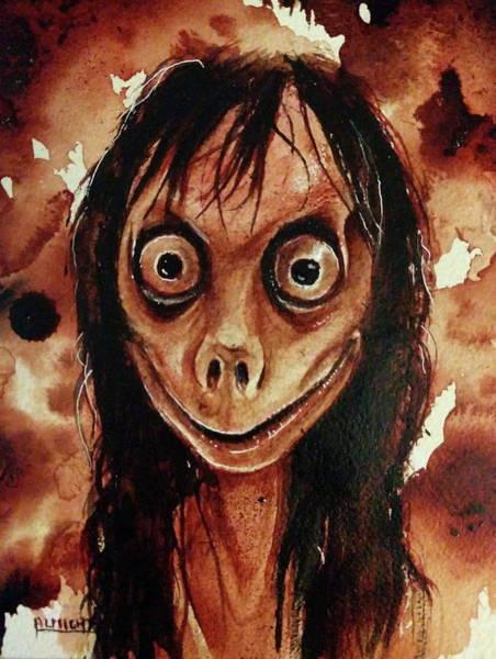 Serial Killer Painting - Momo Fresh Blood by Ryan Almighty