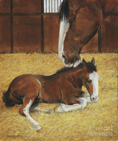 Wall Art - Painting - Mom's Pride by Don Langeneckert