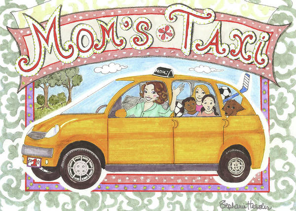 Mixed Media - Mom's Taxi by Stephanie Hessler