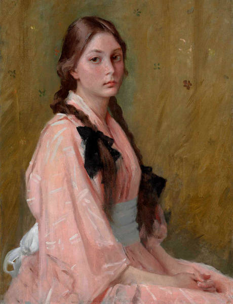 Plaits Painting - Mona - Daughter Or Mrs R by William Merritt Chase