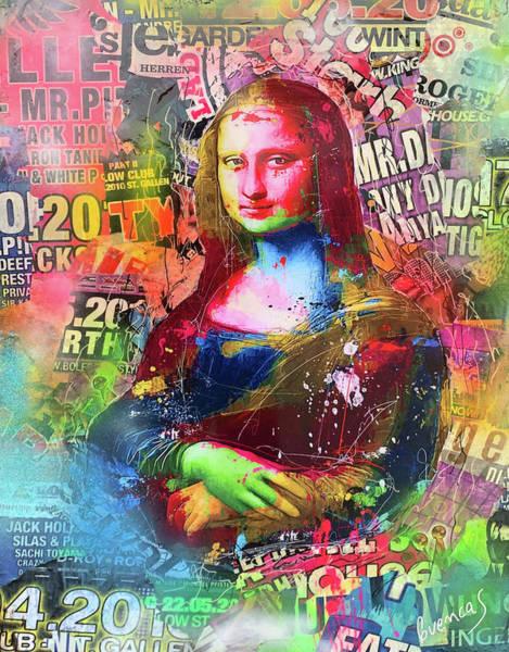 Wall Art - Mixed Media - Mona Lisa Pop by Adriano Cuencas