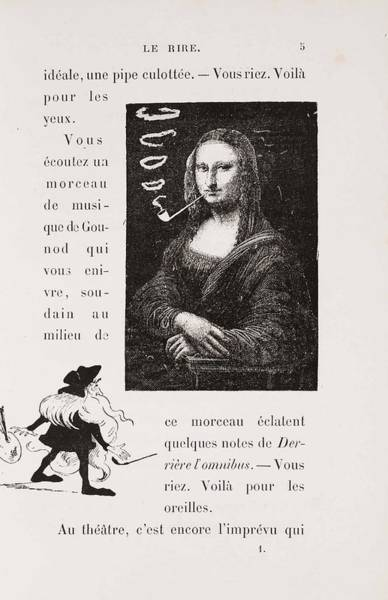 Wall Art - Painting - Mona Lisa With A Pipe  Illustration For Le Rire  Laugh  By Coquelin Cadet  by Eugene Bataille