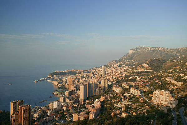 French Riviera Photograph - Monaco Cityscape, Elevated View by Christoph Rosenberger