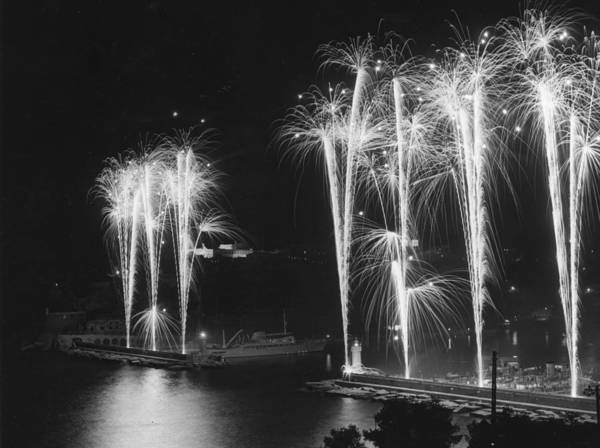Monaco Photograph - Monaco Fireworks by Reg Burkett