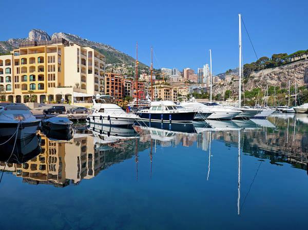 Luxury Yacht Photograph - Monaco Residential Yacht Marina by Pixzzle