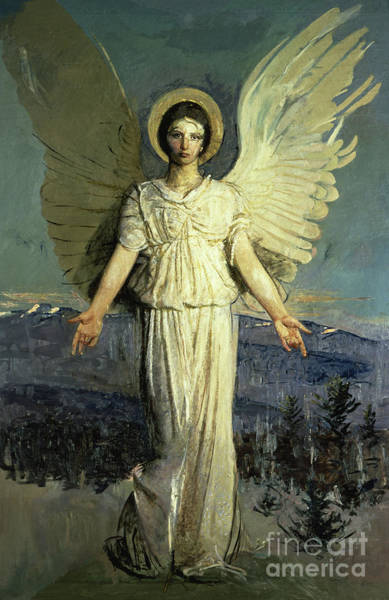 Wall Art - Painting - Monadnock Angel by Abbott Handerson Thayer
