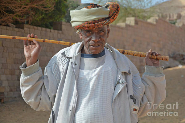 Wall Art - Photograph - Monastery Man With Stick by Andrea Simon