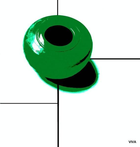 Photograph - Mondrian's Green Bowl by VIVA Anderson