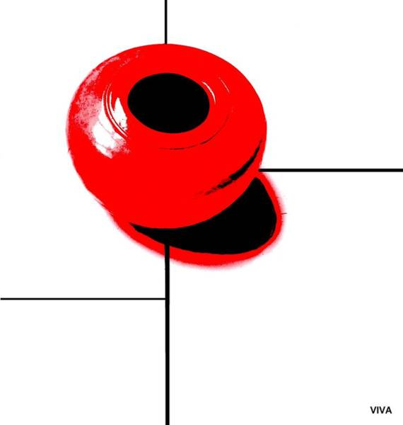 Photograph - Mondrian's Red Bowl by VIVA Anderson