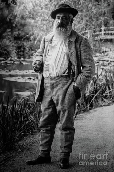 Photograph - Monet At Giverny by Claude Monet