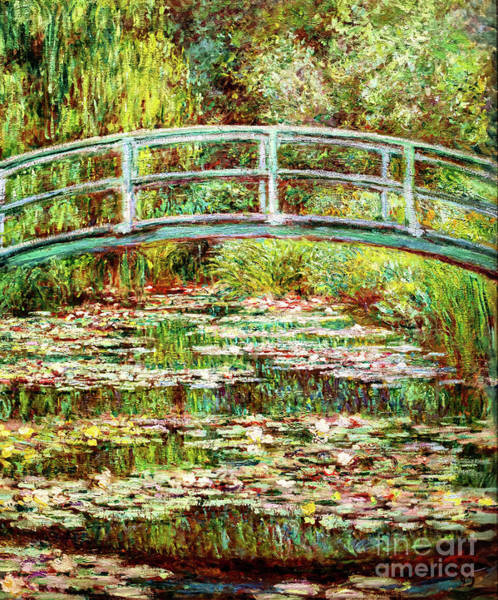 Painting - Monet Bridge Over A Pond Of Water Lilies by Claude Monet