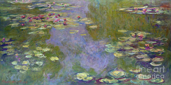Painting - Monet Water Lilies 1919 by Claude Monet