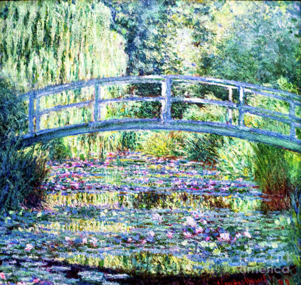 Painting - Monet Water Lily Pond - Green Harmony by Claude Monet