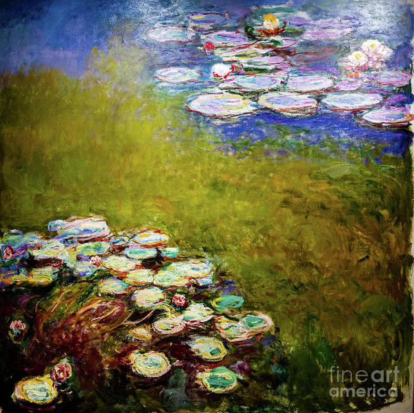 Painting - Monet Waterlilies 1917 by Claude Monet