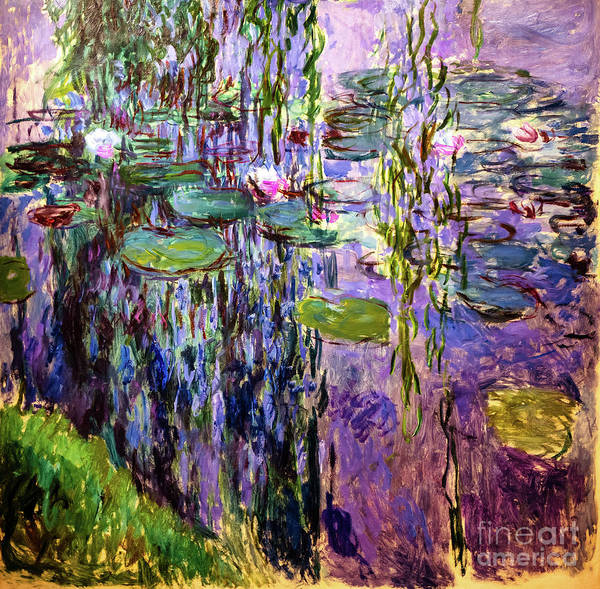 Painting - Monet Waterlilies 1919 by Claude Monet