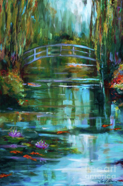 Painting - Monet's Garden In Giverney by Linda Olsen