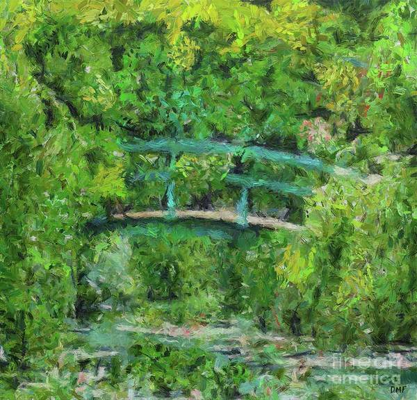 Wall Art - Painting - Monet's Garden In Spring by Dragica Micki Fortuna