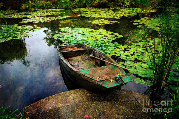Photograph - Monet's Gardeners Boat by Craig J Satterlee