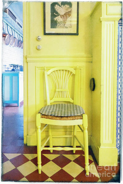 Photograph - Monet's Kitchen Yellow Chair by Craig J Satterlee