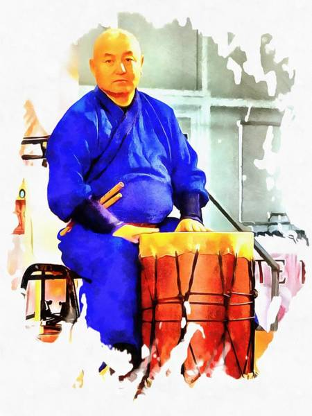 Photograph - Mongolian Drummer Waiting To Play by Dorothy Berry-Lound