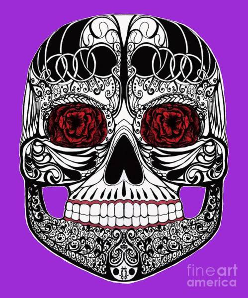 Mixed Media - Monika's Sugar Skull by Amy Brown Mastiff Studios