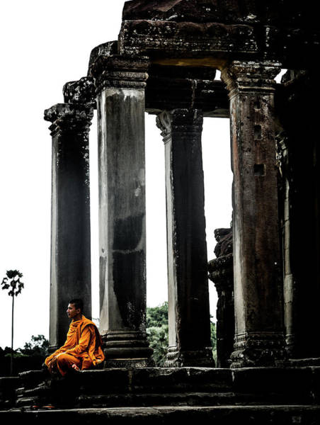 Photograph - Monk At Angkor by Georgia Fowler