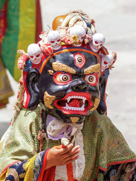 Wall Art - Photograph - Monk In Dharmapala Mask Performs A Religious Cham Dance by Oleg Ivanov
