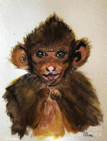 Painting - Monkey Baby  by Marcia Breznay