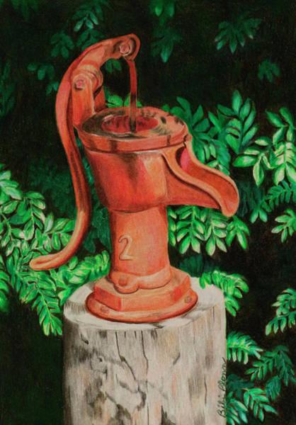 Water Pump Drawing - Monkey Bay Marina by Bibi Blonn