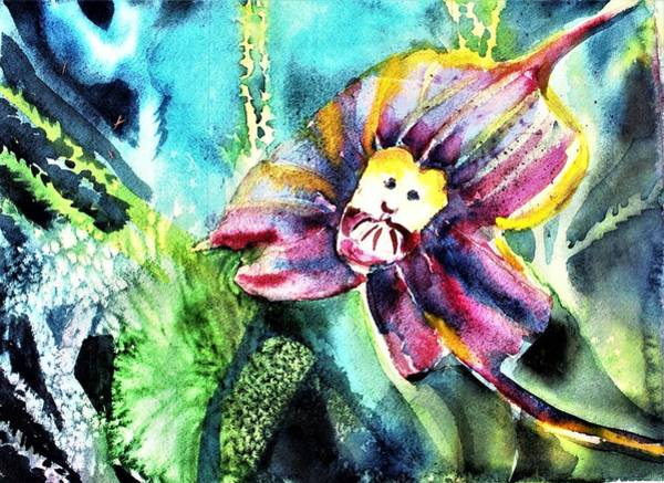Wall Art - Painting - Monkey Face Orchid by Mindy Newman
