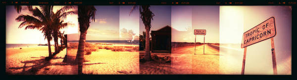 Placard Photograph - Monkey Mia, Tropic Of Capricorn by Katy Clemmans