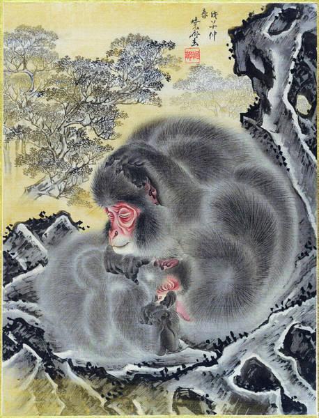 Monkey Wall Art - Painting - Monkeys - Digital Remastered Edition by Kawanabe Kyosai
