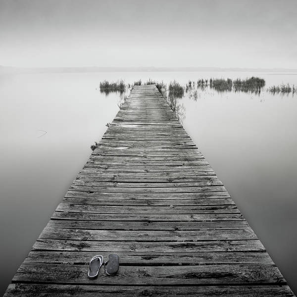 Jetty Photograph - Mono Jetty With Sandals by Billy Currie Photography