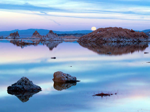Wall Art - Photograph - Mono Lake Moon Rise by Christopher Johnson