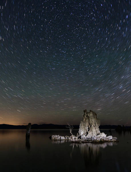 Star Track Wall Art - Photograph - Mono Lake Tufas With Star Trails by Daniel Osterkamp