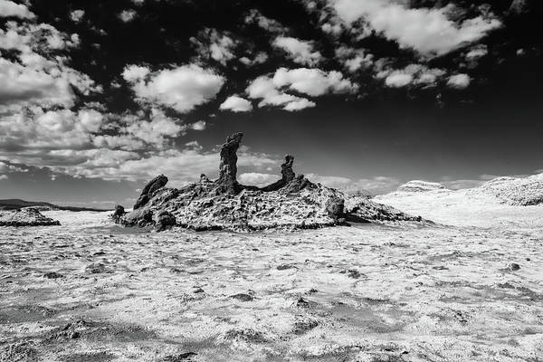 Photograph - Monochrome Atacama Rock Formation by Mark Hunter