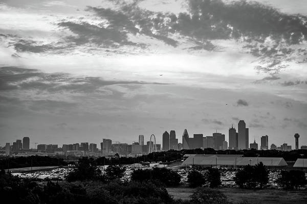 Photograph - Monochrome Architecture Of The Dallas Skyline by Gregory Ballos