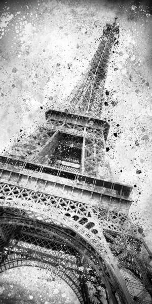 Wall Art - Photograph - Monochrome Art Eiffel Tower  by Melanie Viola