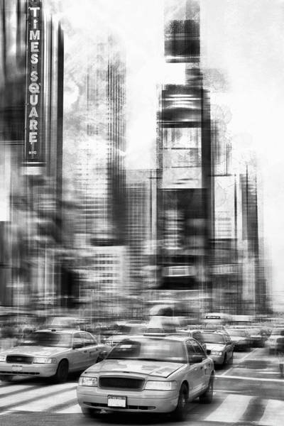 Wall Art - Photograph - Monochrome Art Times Square by Melanie Viola