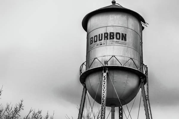 Photograph - Monochrome Bourbon Water Tower - Whiskey Art by Gregory Ballos