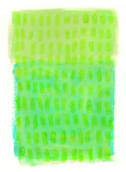 Wall Art - Painting - Monochrome Green Turquoise by Jane Davies
