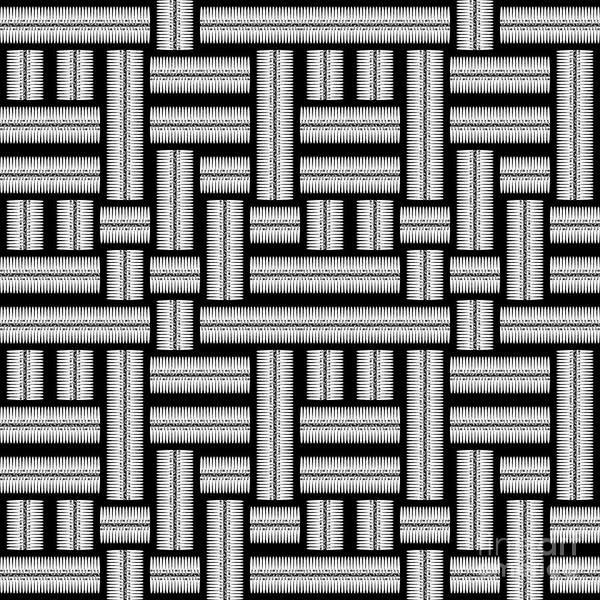 Wall Art - Digital Art - Monochrome Maze Pattern by Gaspar Avila