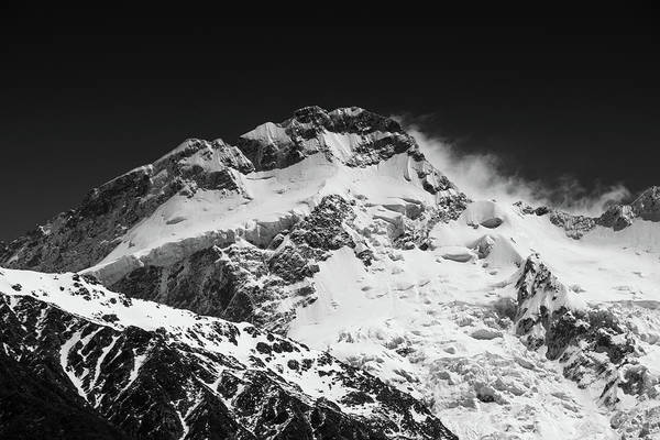 Monochrome Mount Sefton Art Print