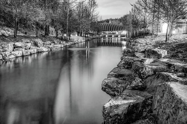 Photograph - Monochrome Night At The Museum - Bentonville Crystal Bridges by Gregory Ballos